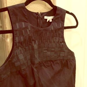 VINCE. Black dress with black matte sequins